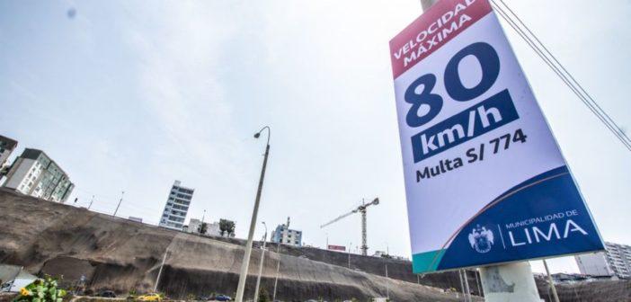Establecen nuevos límites de velocidad en la Costa Verde